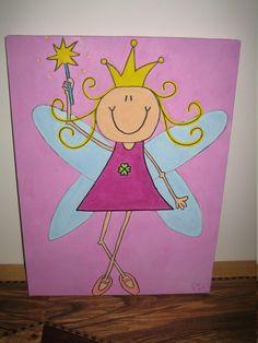 """Kinderkamerdecoraties - kinderkamer schilderij """"prinses"""" - Een uniek product van Jbd-1 op DaWanda"""