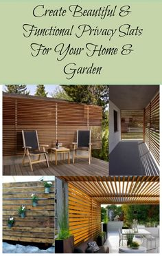 CREATE BEAUTIFUL & FUNCTIONAL PRIVACY SLATS FOR YOUR HOME & GARDEN