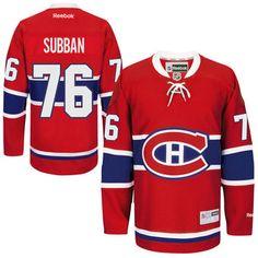 ... Reebok PK Subban Montreal Canadiens Red Home Premier Player Jersey. Nhl  JerseysMontreal . d498c24ec