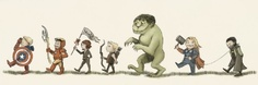 Avengers Illustration in the style of Where the Wild Things Are