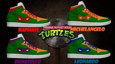 Men's Light Up Teenage Mutant Ninja Turtles Shoes by KickolasNage