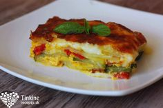 Vege francúzske zemiaky Lasagna, Quiche, Veggies, Healthy Eating, Vegetarian, Tasty, Dinner, Breakfast, Ethnic Recipes