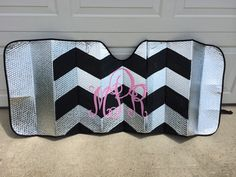 "Is there anything cuter or more trendy than chevron? Just let me know whether you prefer big, thick ""zigs"" or small, thin ""zags""! Be sure to send me your monogram/Greek letters and color pallet (one chevron color, one letter color)!"