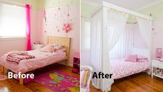 How to make a four poster princess bed: Turning a plain bed into a place of enchantment is simple to do using pine you'll find at most timber yards. Just start with a basic wooden bed, make up L-shaped posts and canopy rails, sprinkle with a little fairy dust and your princess will drift off to sleep for a night of sweet dreams.