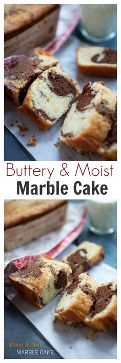 Marble Cake - Moist, buttery, and the BEST marble cake recipe ever. Get the reci. Cupcakes, Cupcake Cakes, Just Desserts, Delicious Desserts, Yummy Food, Marble Cake Recipes, Dessert Recipes, Marble Cake Recipe Moist, Sweet Bread