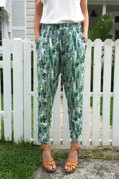 Image of **LIMITED EDITION** Cactus Linen Pant