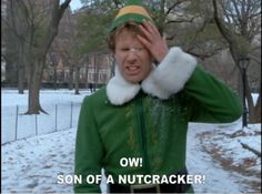 "bahaahahahahahahahaha. Whenever I get calls from telemarketers I say ""Buddy the Elf, what's your favourite colour?"""