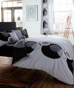 solo grey black bedding set
