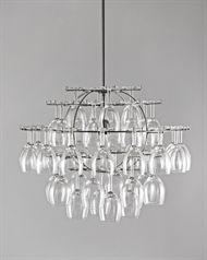 Glass Cluster by Bjorn Stillefors, Jorgen Pudeck & Gunnar Wine Glass Chandelier, Wine Goblets, Glass Holders, Fancy, Ceiling Lights, Crystals, Lighting, Pattern, Inspiration