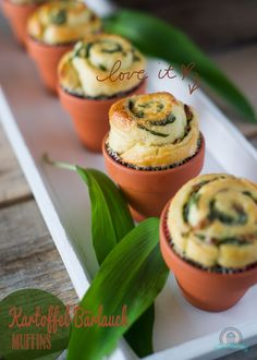 Kartoffel-Bärlauch-Muffins - Bistro recepie's and ideas - FingerFood İdeen Appetizers For Party, Appetizer Recipes, Party Snacks, Snack Recipes, Cooking Recipes, Tapas, Mezze, Party Finger Foods, Brunch Party