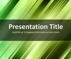 Green PowerPoint Template (Slanted Bars), free PowerPoint template background, #PPT presentations