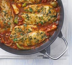 Fragrant Fish Tagine ~ 60 mins ~ Per Serving: 282 calories, protein 24g, carbohydrate 24g, fat 11 g, saturated fat 2g, fibre 5g, sugar 7g, salt 2.76 g
