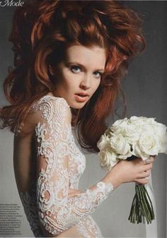 Zuhair Murad Spring Summer 2013 Ready-to-wear fully beaded white dress featured in a photoshoot for Gala France