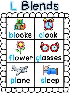 Blends Bundle for L, R, and S blends! Whole group lessons, anchor charts, and… Ela Anchor Charts, Kindergarten Anchor Charts, Kindergarten Language Arts, Reading Anchor Charts, Kindergarten Reading, Teaching Reading, Teaching First Grade, Teaching Phonics, Preschool Learning Activities