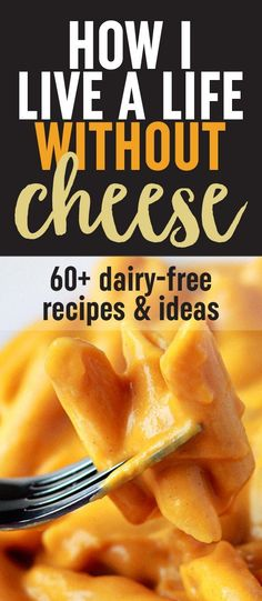 How I Live a Life Without Cheese. It really is possible! Thoughts, ideas, and 50+ recipes for a dairy-free diet.