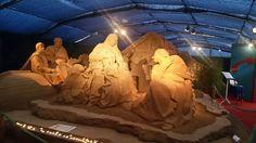 #Natività di sabbia sulla spiaggia di Igea Marina