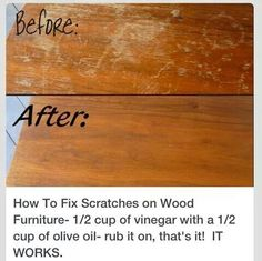 How to fix wood scratches