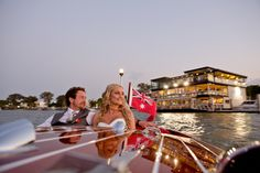 Arrive at your wedding reception in style with Noosa Dreamboats.