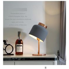 VALERIA Table Lamp — Best Goodie Shop - Bring a boost of brightness and contemporary appeal to your bedside ensemble with this table lamp Nightstand Lamp, Bedside Table Lamps, Desk Lamp, Dining Lighting, Cool Lighting, Lighting Ideas, Kitchen Lamps, Table Lamp Shades, Diffused Light