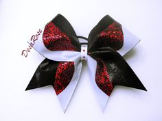 Hey, I found this really awesome Etsy listing at http://www.etsy.com/listing/166263387/cheer-bow-red-black-white-competition