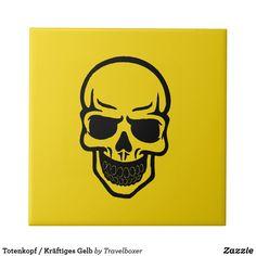 Totenkopf / Kräftiges Gelb Fliese Havanna, Special People, Skull And Crossbones, Tiles, Yellow, Colors, Pictures