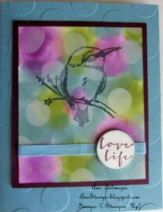 Stampin' Up! SAB A Happy Thing Bokeh Technique