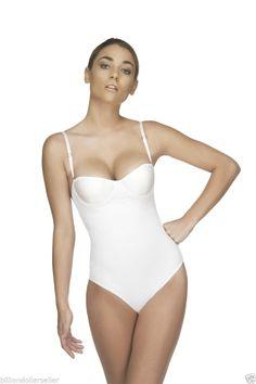 White (Bikini Back) Bodysuit Shapewear Women's Intimates Fajas Colombianas V-120