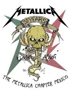 alfredmad6 ART & INKS!!!!: 30 años pateando traseros,dibujo para metallica y su representacion en mexico! ( art by me)