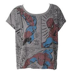 Mighty Fine Spider-Man Comic Strip: Be the superhero of your own wardrobe in this Spider-Man tee ($15, originally $27).