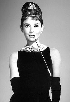 Audrey Hepburn in Breakfast at Tiffany's. Dress Hubert de Givenchy 1961