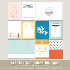 San Francisco Journaling Cards (Digital) / In a Creative Bubble Shoppe