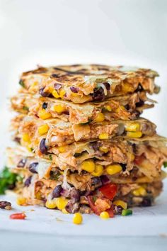 This Cowboy Quesadilla is loaded up with a BBQ Chicken, a black bean Texas caviar and lots of fresh off the block, melty cheese! Perfect for dinner time, this dish will please the whole family! Mexican Food Recipes, New Recipes, Dinner Recipes, Cooking Recipes, Favorite Recipes, Healthy Recipes, Ethnic Recipes, Cleaning Recipes, What's Cooking