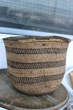 Native San Carlos Apache Burden Indian Basket old