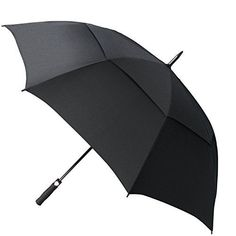 UK Golf Gear - Fnova 62-Inch Golf Umbrella with Double Canopy, Full Size 210T Microfiber Fabric with Teflon Rain Repellant Protection, Ultra Rain & Wind Resistant with Auto Open, Lifetime Guarantee #golfumbrella