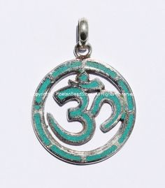 2 PENDANTS  Carved Sanskrit Om Aum Ohm Mantra by TibetanBeadStore