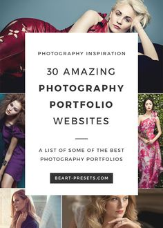 A list of some of the best photographers portfolios | Photography Inspiration from @BeArtpresets