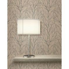 Fine decor louisa cream wallpaper cream decor and for Wallpaper homebase gold