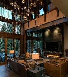 Rustic Modern Home Design Lake Tahoe Getaway Features A Modern Sch . Rustic Modern Home Design Lake Tahoe Getaway Features A Modern Sch . - Diy Projekt, to choose LED lights for at home? Home Interior Design, Home And Living, Interior Design, House Interior, Contemporary Barn, Modern House Design, Interior Architecture, Home, Home Decor