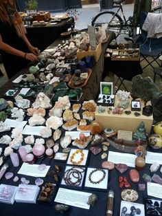 View of the Day Crystal Room, Crystal Magic, Crystal Healing, Crystals And Gemstones, Stones And Crystals, Crystal Aesthetic, Witch Aesthetic, Crystal Collection, Witchcraft