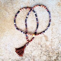 """23 Likes, 3 Comments - Toi Lynn Wyle (@theblissgoddess) on Instagram: """"I am Creative. I am Love. Traditional 108 mala with hand created tassel.  Petrified wood and…"""""""