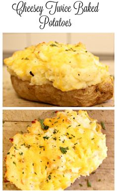 Turn a boring baked potato into a family favourite with this recipe for cheesy twice baked potatoes. Cheese, butter, sour cream - what's not to love?