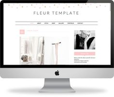 Premade Blogger Template  Instant Download  Fleur  by KayBrighton