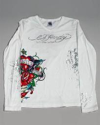 $38.50 Ed Hardy Girls Graphic Long Sleeve Tee Size XL