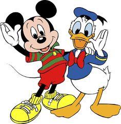 *Mickey & donald desene animate disney, minnie mouse, walt disney, one Cute Disney, Walt Disney, Disney Dream, Disney Mickey, Tweety, Duck Wallpaper, Birthday Clips, Disney Birthday, 80th Birthday