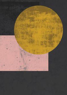Geometric wall art abstract art geometric poster by FLATOWL