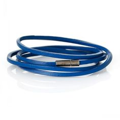 "Dorabeads Cowhide Leather Bracelets Many Loops Blue Cord End Clasp 79cm(31 1/8""),3 PCs"