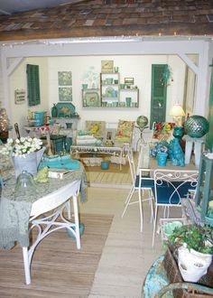 An overall view of the garden room at The Side Track Shops in Historic Glendale Kentucky.