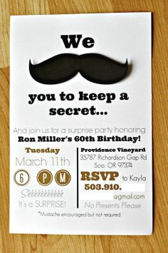 Surprise 60th Birthday Bash - a Mustache Bash with the help of the Silhouette