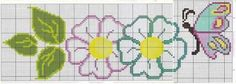This Pin was discovered by Lal Butterfly Cross Stitch, Cross Stitch Rose, Cross Stitch Flowers, Bead Loom Patterns, Cross Stitch Patterns, Beading Patterns, Alpha Patterns, Canvas Patterns, Hand Embroidery