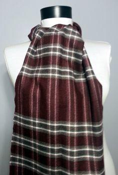 Wool Men's Scarf - Claret red Scarf - S167 #handmadeatamazon #nazodesign